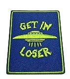 Autocollant en vinyle pour voiture « Get in Loser » - Type de X-Files - Soucoupe - Alien - Science Fiction - Humour - Comics - Horreur - Cryptides Créatures - Monstre - Application
