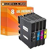 Gorilla-Ink® 8 Gel-Patronen XXL kompatibel für Ricoh GC-41 Aficio SG 3110 DN SG 3110 N SG 3110 SFNW SG 3120 B SF SG 3120 B SFN SG 3120 B SFNW SG 7100 DN