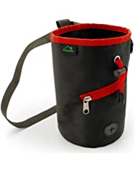 Black Bag with Red Trims, Zipper & Drawstring
