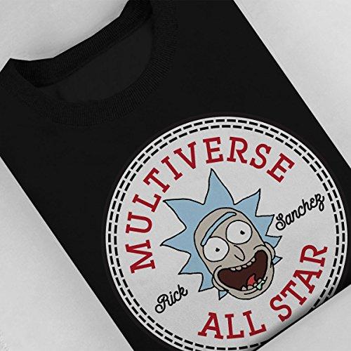 Rick And Morty Rick Converse Multiverse All Star Logo Women's Sweatshirt Black