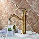 Rubinetto in ottone cromato Retro Counter Basin Faucet Faucet Copper Retro Basin Hot and Cold Mixed Dual Use