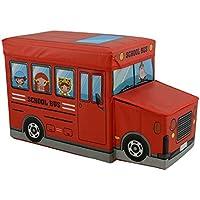 Preisvergleich für nean Faltbarer Sitzhocker Bus Aufbewahrungsbox Spielzeugtruhe Spielzeugkiste