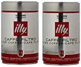 Illy Medium Roast Filter Coffee, 250 g, Pack of 2 (Packaging may vary)