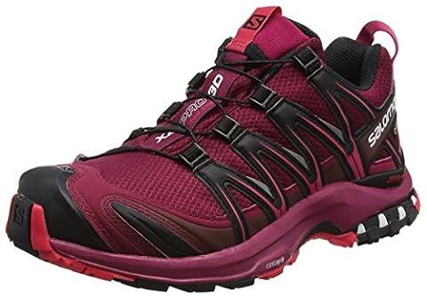 Salomon Femme XA Pro 3D GTX Chaussures de Course à Pied et Trail Running, Synthétique/Textile, Rouge, Pointure: 40