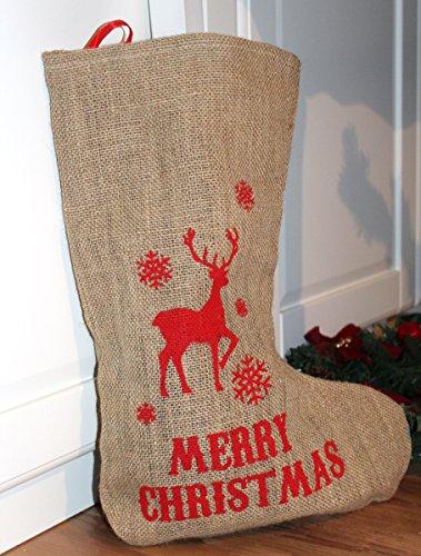 cm gross Sack Jute zum Aufhängen Weihnachtsmann Nikolaus (Große Weihnachtsmänner Zum Verkauf)