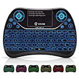 vontar Wireless Mini Tastatur mit Touchpad Maus und Multimedia-Tasten, 2,4 GHz USB Handheld Aufladbare Fernbedienung Tastatur für PC, Pad, Smart TV, Google Android TV Box, HTPC, IPTV, PS4