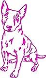 Autoaufkleber oder Wandtattoo Miniatur Bullterrier 20x32cm Aufkleber in verschiedenen Farben (Pink Glanz)