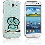tinxi® Schutzhülle für Samsung Galaxy S3 i9300 / S3 Neo i9301 Hülle TPU Silikon Rückschale Schutz Hülle Silicon Case mit Eule Owl Muster in Hellgrün