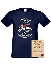 Family T-Shirt - Super Papa - bedrucktes Hemd als passendes Geschenk oder Outfit für Deinen Vater - blau 2