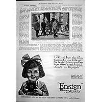 Stampa Antica di Fotografia 1919 di Pera Ensign della Pattuglia di Costantinopoli della Polizia - Antichi Da Collezione Delle Fotografie
