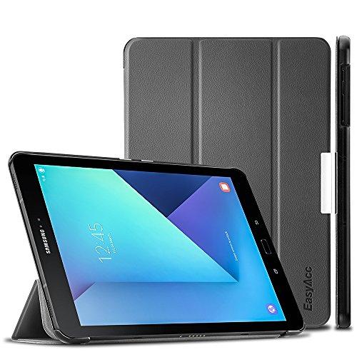 Touch Pink Leder (EasyAcc Samsung Galaxy Tab S3 T820/ T825 Hülle Cover mit Standfunktion / Automatische Sleep Wake Funktion PU Leder hüllen für Samsung Galaxy Tab S3 (9,68 Zoll) Smart Cover (Grau, Kunstleder, Ultra))