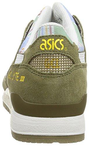 Asics Gel-Lyte III, Scarpe sportive, Donna Light Olive/White 8501