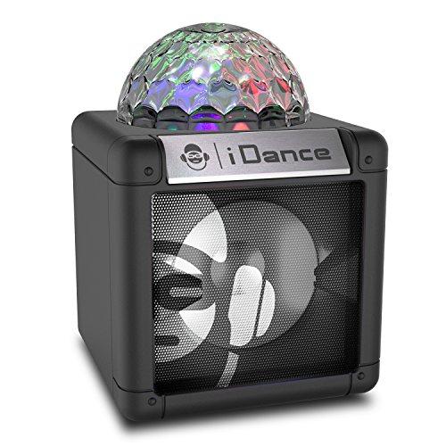 iDance Cube Nano 5W Schwarz - Tragbare Lautsprecher (5 W, 41 dB, 10%, Verkabelt & Kabellos, A2DP, Schwarz)