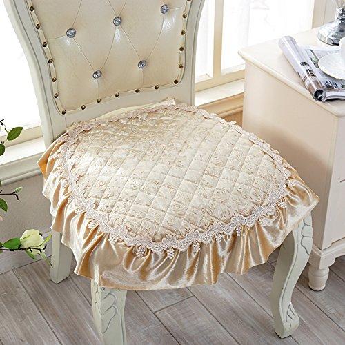 Yq whjb sedia cuscini per sedie da pranzo,antiscivolo cuscini per sedia,stile europeo pizzo home ditta con legami cuscini di natiche-b 40x40cm(16x16inch)