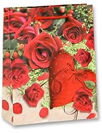 Immerschön 2-er-Set Geschenk-Tüten in verschiedenen Motiven Geschenk-Verpackung Valentinstag Ostern Geburtstag Birthday Weihnachten Advent Christmas Nikolaus