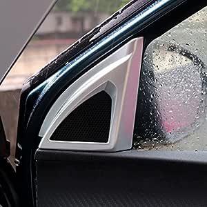 Für 3008 5008 Ii 2017 2020 Silber Matt Interieur Tür A Säule Lautsprecher Interieurleisten Abs Kunststoff 2 Stück Nicht Für Focal Lautsprecher Auto