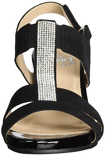 Caprice 28206, Salomés Femme Noir (Black Suede)
