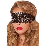 Casa Damen Schwarze Spitze Augenmaske Maskerade Abendkleid Partei Maske