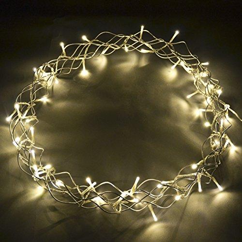 Licht Deko Kranz Indoor silber Xmas Weihnachten Beleuchtung (40x40cm)