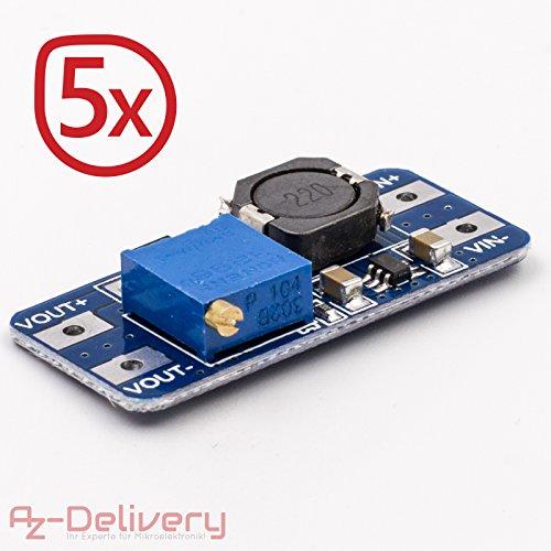 AZDelivery-5x-MT3608-DC-DC-Netzteil-Adapter-Step-up-Power-Supply-Modul-fr-Arduino