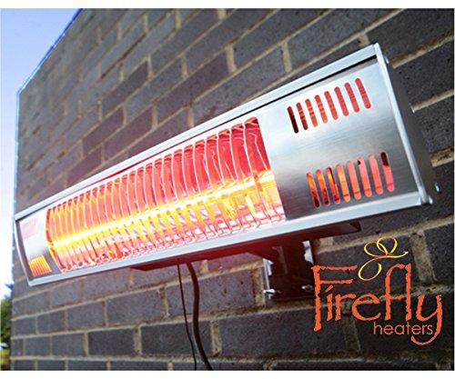 Firefly 1.500 Watt Infrarot-Heizstrahler (Goldröhre) Terrassenheizung, Wandmontage, inkl. Fernbedienung