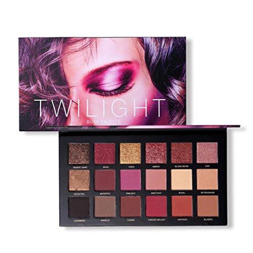 Eyeshadow Palette,PowerFul-LOT 18 Couleurs Twilight & Dusk Ombre À Paupières Maquillage Palette Chaude Matte Glitter Oeil Ombres Palette Naturel Longue Durée Cosmétique