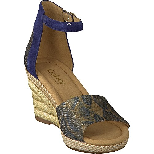 Gabor Moonbeam, Sandales Compensées femme Bleu
