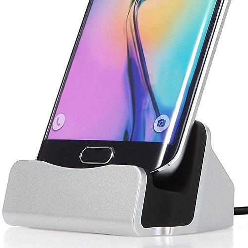 Aventus (Silber) Vodafone Smart Ultra 7 Mikro-USB-bewegliche aufladendock-Aufnahmevorrichtungs-Tischplattenaufladeeinheits-Station Cell-docking-station