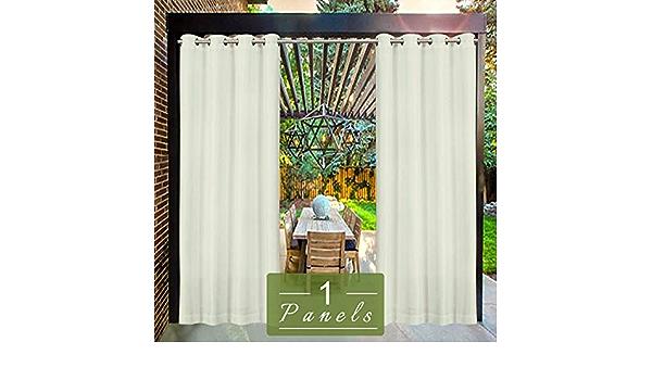 Beige /étanche r/ésistant /à la moisissure pour pavillon de Plage terrasse Rideaux occultants 132 x 305 cm Ballon 1 pi/èce UniEco Rideau dext/érieur pour Jardin