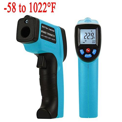 Termómetro de infrarrojos, XSMeterHouse láser Punto Termómetro Blustmart infrarrojo sin contacto digital  50 ℃ a 550 ℃/ 58 a 1022 °F (azul )