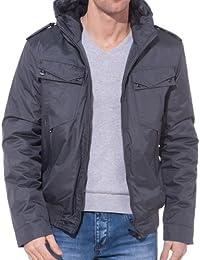 BLZ jeans - Blouson imperméable gris à capuche