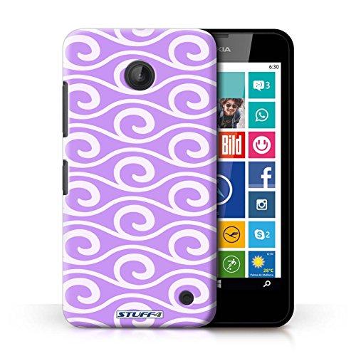Kobalt® Imprimé Etui / Coque pour Nokia Lumia 635 / Rouge conception / Série Motif ondes chic Violet