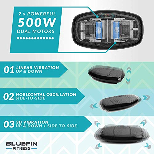 51TUBx2atqL. SS500  - Bluefin Fitness Dual Motor 3D Power Vibration Plate   Oscillation, Vibration + 3D Motion   Huge Anti