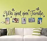 Wandtattoo-Günstig G107 Spruch Wir sind eine Familie + Bilderrahmen Wandaufkleber Wandsticker haselnussbraun (BxH) 106 x 43 cm