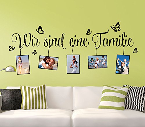 wandtattoo g nstig g107 spruch wir sind eine familie. Black Bedroom Furniture Sets. Home Design Ideas