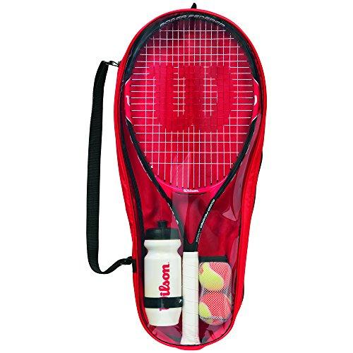 Wilson Starter Set für Kinder, Roger Federer 25, 9-12 Jahre, rot/schwarz, WRT214000 -