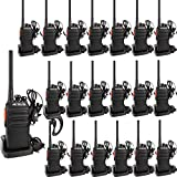 Retevis RT24 Funkgeräte Set Walkie Talkies PMR Funkgerät mit Headset Security Funkgerät Lizenzfrei 16 Kanäle CTCSS/DCS VOX Wiederaufladbar Walkie Talkie