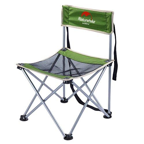 OUTAD faltbar Stuhl tragbaren und mobilen Stahl für Camping / Angeln / Wandern / Picnic (Gewichtsbelastung 150kg) (Schwarz)