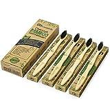 Nubeter Cepillos de dientes de bambú | Paquete de 4 | Ecológico |...