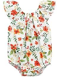 PAOLIAN Mameluco Bebe niña Verano Fiesta Ropa para Niñas bebé Recien Nacido  Monos Impresion de Florales a6124173892