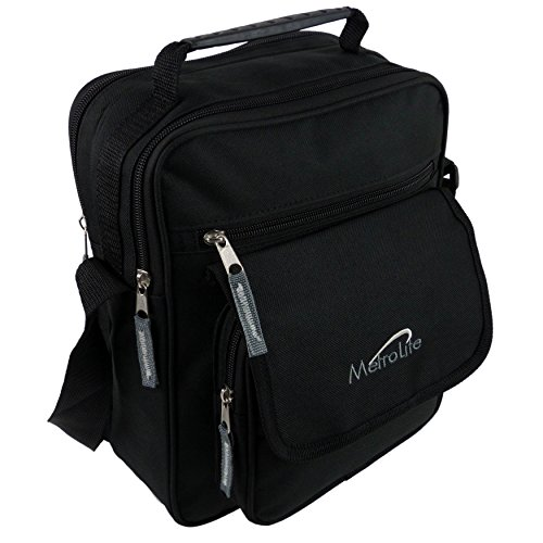 MetroLite multiuso da donna, in tela, borsa Messenger a tracolla da viaggio viola nero