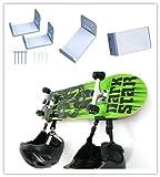 Unho®2 Stück Surfbrett Wandhalterung aus Aluminium Surfboard Wand Display Rack