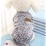 Sunshine D Pet Dog Sweater, Soft Warm Jumper Dog Cat Sweater Coat By in Autumn Early Winter Puppy Jacket Dogs Clothes GREY M 51TUFSOZF3L