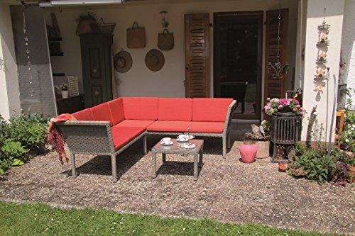 Stapelbare Poly Rattan Lounge inkl. wasserabweisenden Kissen 'RED' von Forma
