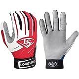 1 Pr Louisville Slugger BGS714 Adult X-Small Red / White Series 7 Batting Gloves