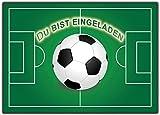 Fussball 12er Set Einladungskarten Kindergeburtstag Kinder Jungen Mädchen Geburtstag