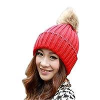 Womens Beanie,Clode® Ladies Girls Christmas Winter Warm Chunky Braid Knitted Crochet Beanie Hats with Pom Pom SKI Snowboard Bobble Hats