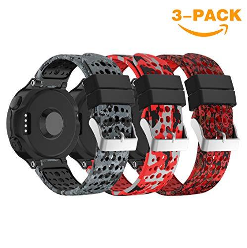 YaYuu Für Garmin Forerunner 235 Watch Armband Forerunner 235 Uhrenarmband weichen Silikon Ersatzarmband für Garmin Forerunner 235/220/230/620/630/735 Smart Watch Armband (# A)