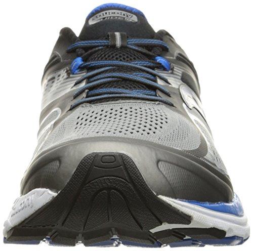 Saucony Guide 10, Scarpe Running Uomo Grigio (Grey/black/blue)