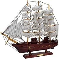 "Sonia Originelli Segelschiff ""L"" Modellschiff Dekoration Schiff Maritim Farbe Dunkelbraun"